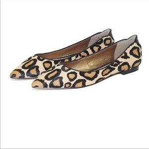"sam edelman ""rae"" leopard flats ✖️"